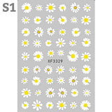 Daisy Flowers Nail Art Stickers