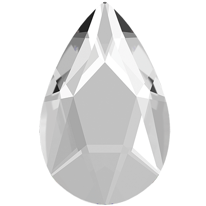 Swarovski 2303 Pear Flat Back Crystal 8X5MM - 12 PCS