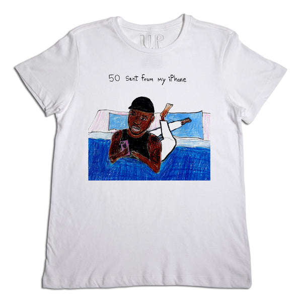 50 Cent From My iPhone Men's White T-Shirt