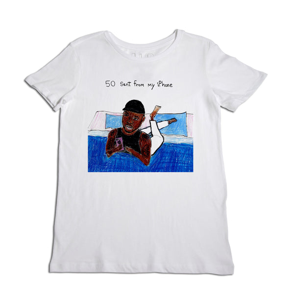 50 Cent From My iPhone Women's White T-Shirt