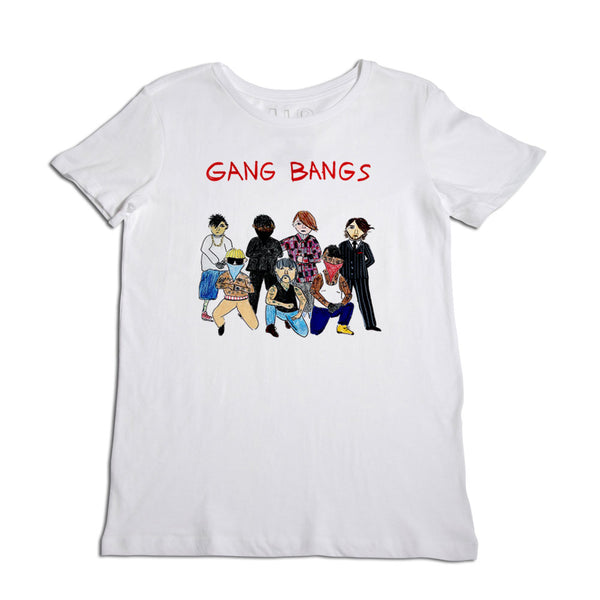 Gang Bangs Women's White T-Shirt