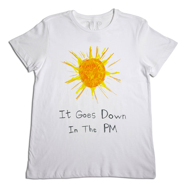 It Goes Down Men's White T-Shirt