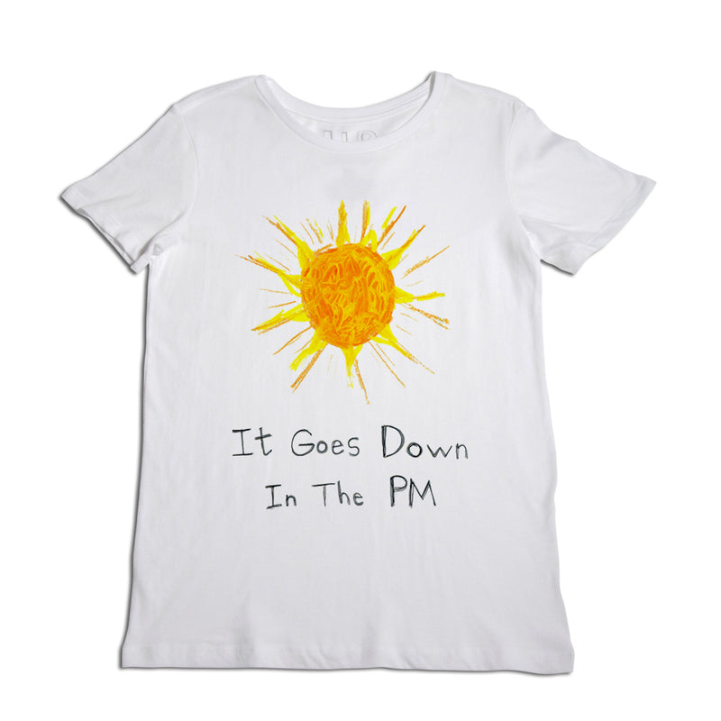 It Goes Down Women's White T-Shirt