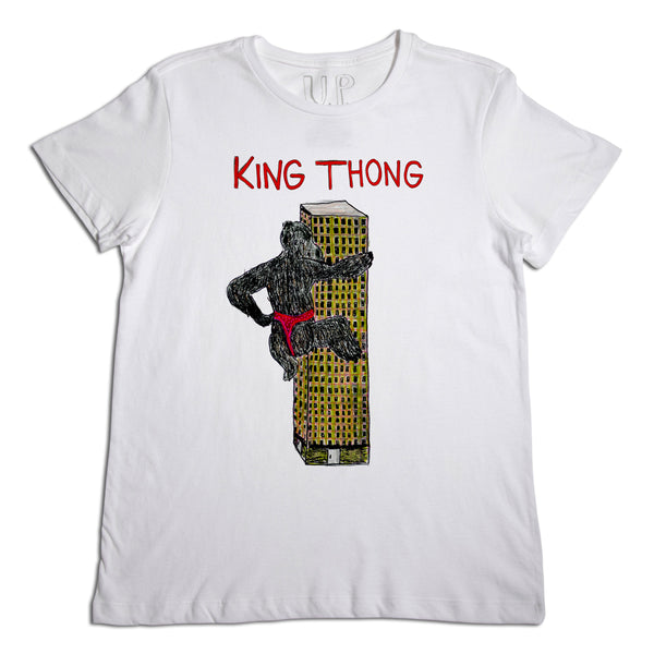 King Thong Men's White T-Shirt