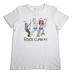 Rock Climbers Men's White T-Shirt