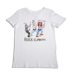 Rock Climbers Women's White T-Shirt