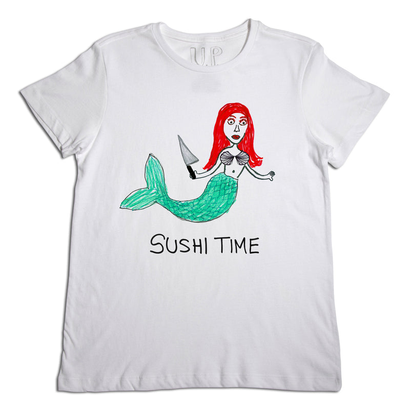 Sushi Time Men's White T-Shirt