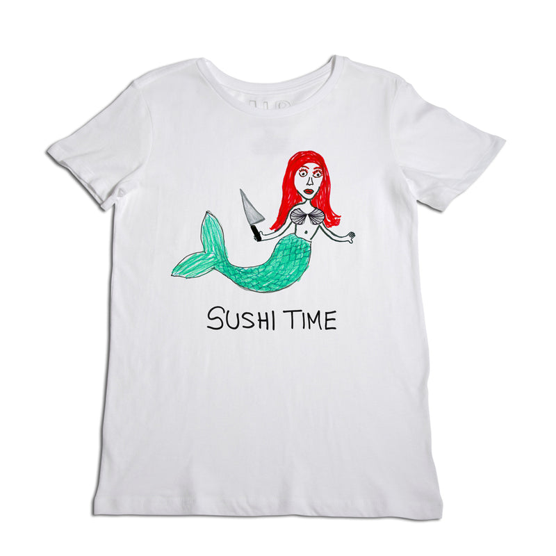 Sushi Time Women's White T-Shirt