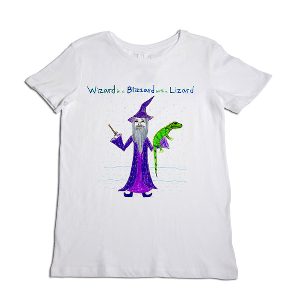 Wizard in a Blizzard with a Lizard Women's T-Shirt