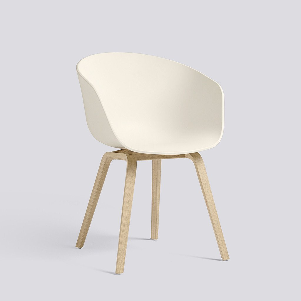Hay About a chair, Stuhl, Schalensessel, Cream White