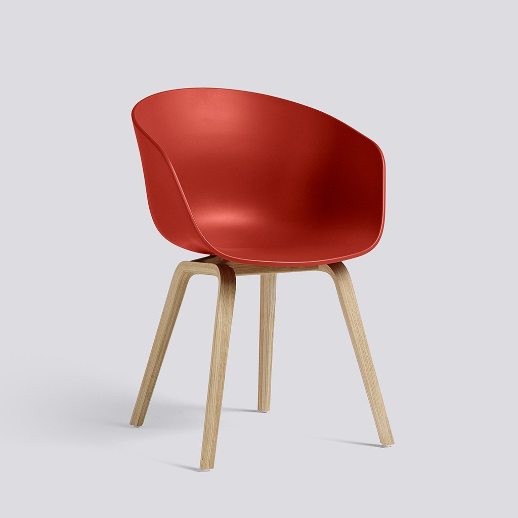 Hay About a chair, Stuhl, Schalensessel, warm red
