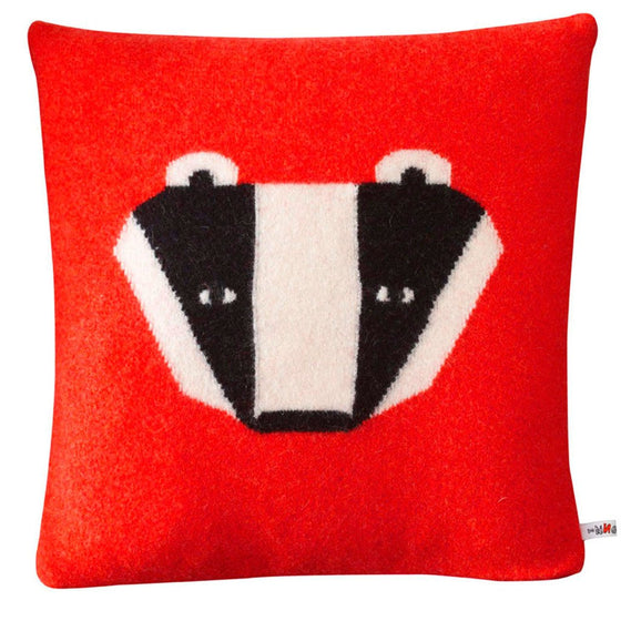 Donna Wilson Badger Cushion – Red,  Lambswool