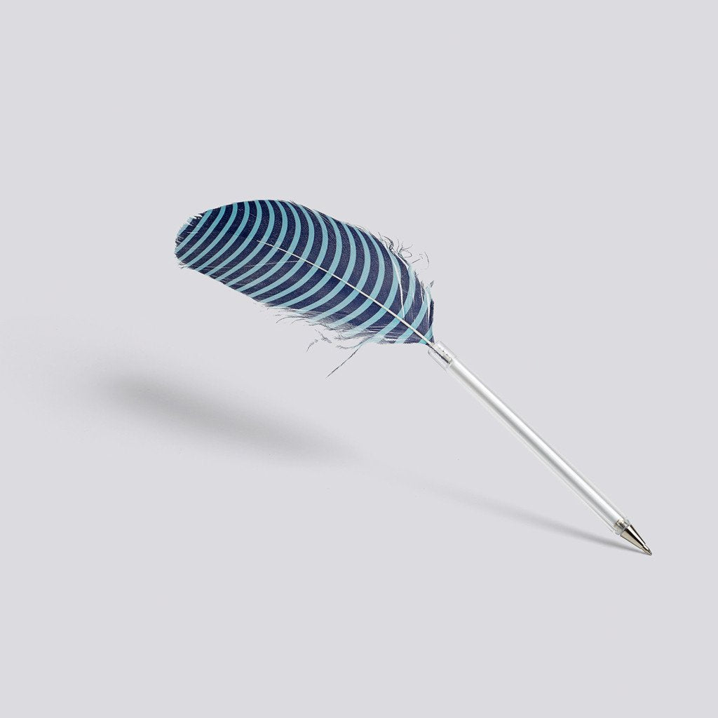 "Kugelschreiber ""Feather"", HAY, mint/blue"