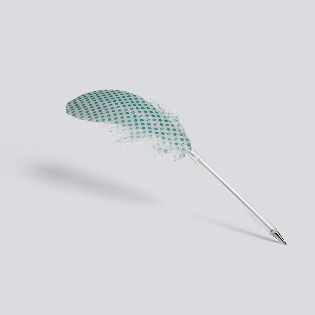 "Kugelschreiber ""Feather"", HAY, mint/grey"