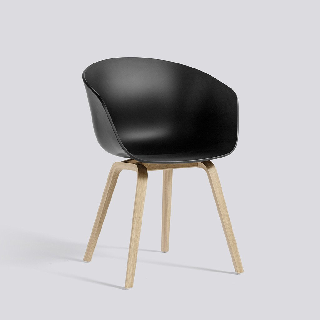 Hay About a chair, Stuhl, Schalensessel, black