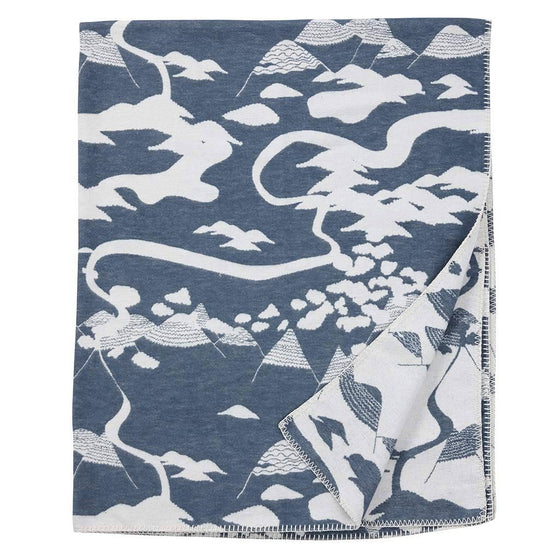 "Decke ""Mountains"" organic cotton, Klippan"