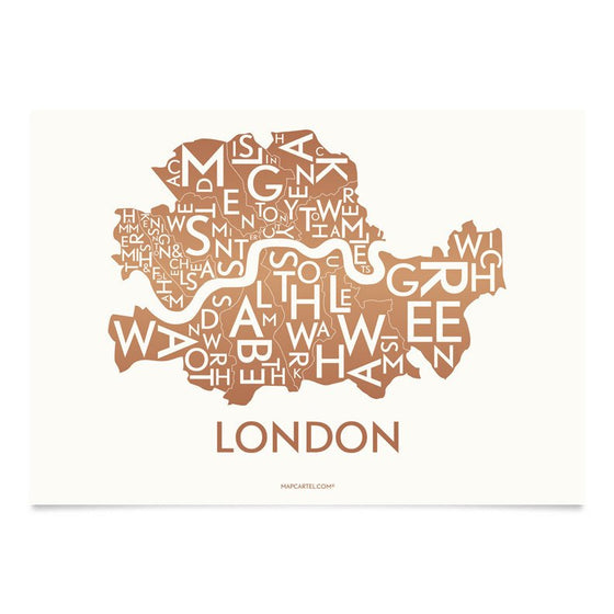 Plakat London, kupfer, 40 x 55 cm