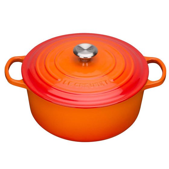 Le creuset Bräter rund, ofenrot