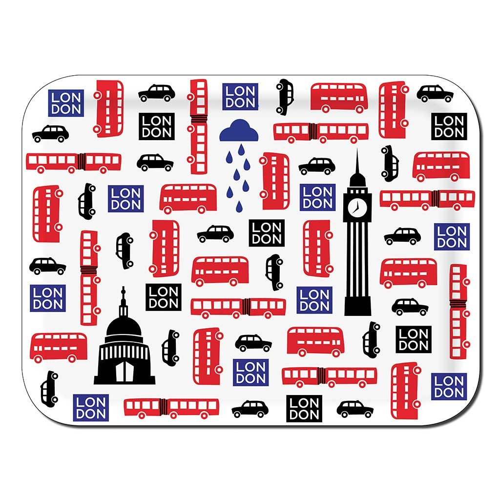 "Tablett ""London icons"" 43cm x 33cm"