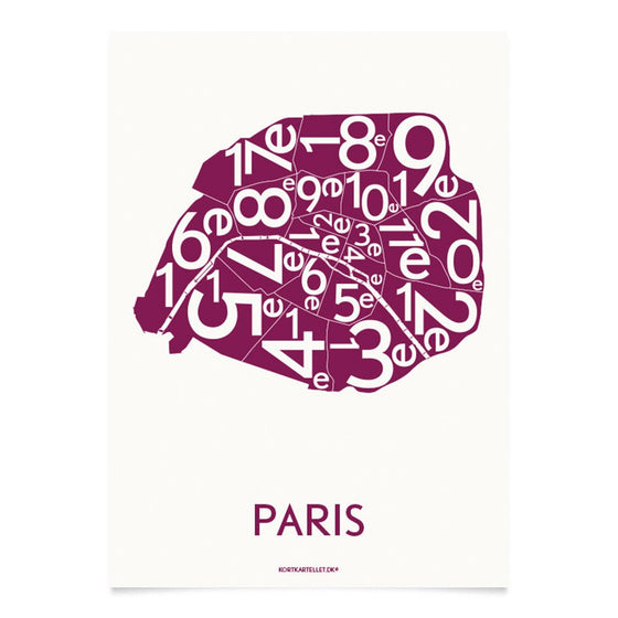 Plakat Paris, bordeaux, 50 x 70 cm