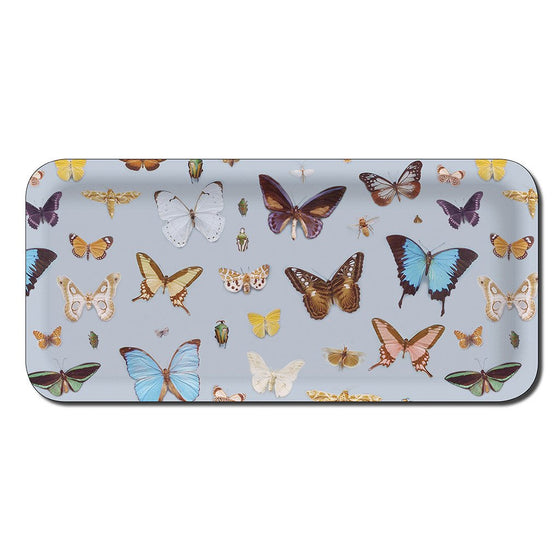 "Tablett ""Bugs and butterfly"" 32x15cm, Ary trays"