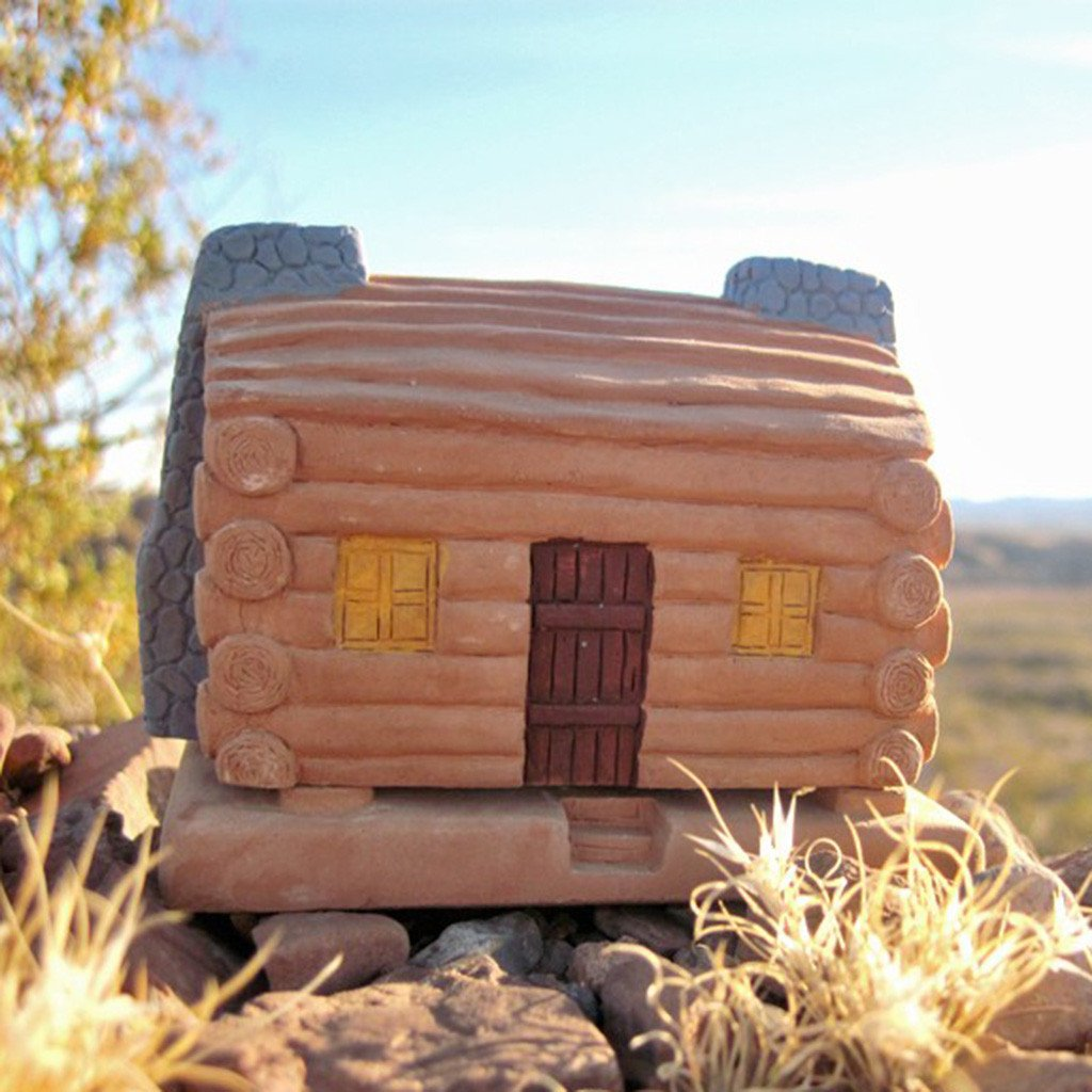 "Räucherhaus Log Cabin : mit 20 ""Piñon natural wood"" Räucherblöcken"