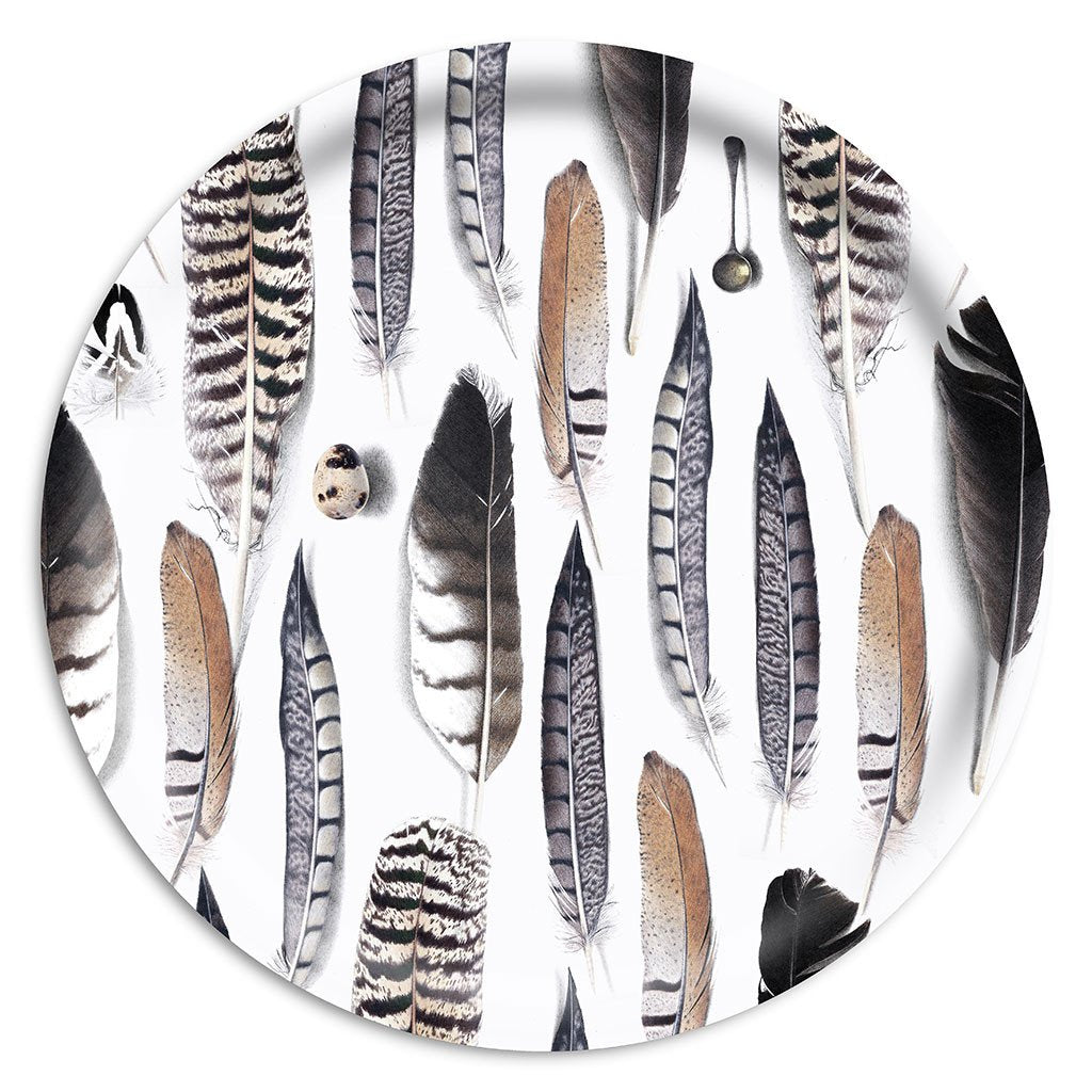 "Tablett ""Feather"" Ø 38cm, Ary trays"