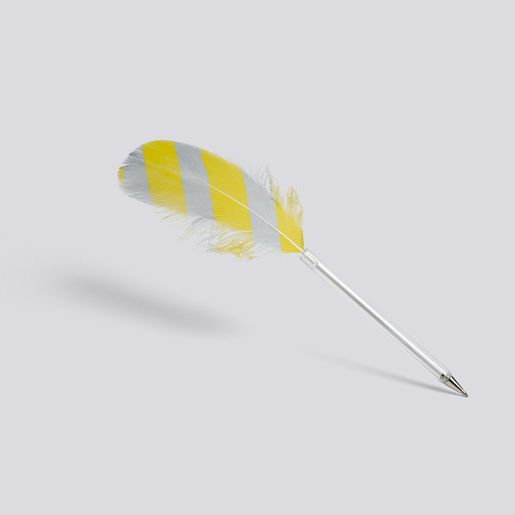 "Kugelschreiber ""Feather"", HAY, yellow/grey"