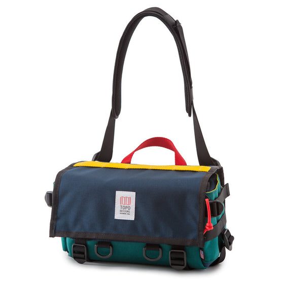 Topo Designs Navy/Teal ; Kameratsche, made in USA