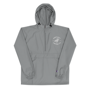 Embroidered KKC Champion Packable Jacket - Kentucky Koffee Co., LLC