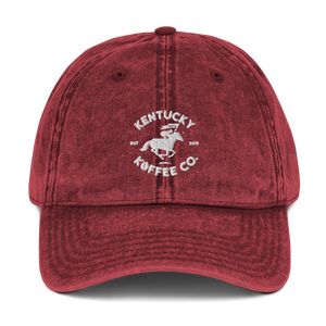 Vintage Cotton Twill KKC Cap - Kentucky Koffee Co., LLC