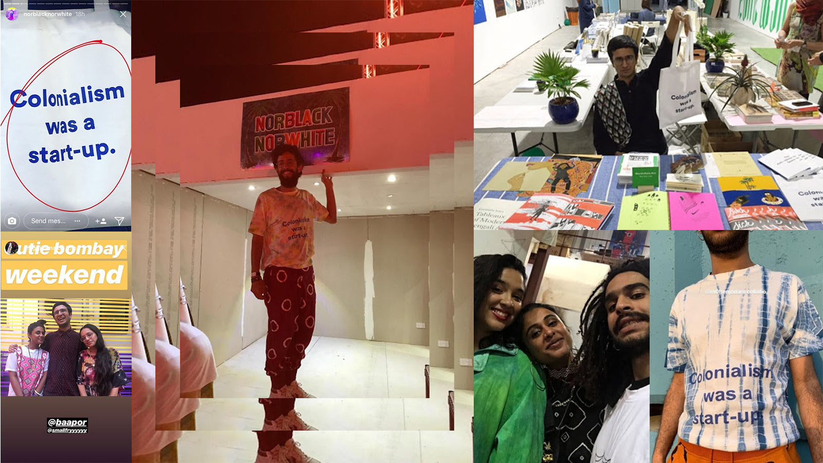 instagram, screenshot, somnath bhatt, colonialism was a start-up, collab, nbnw