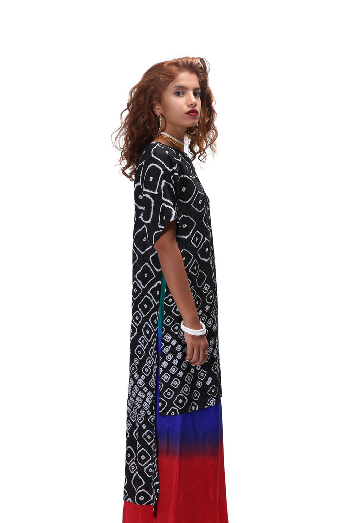 Chhota Mota High Slit Kurta - Black