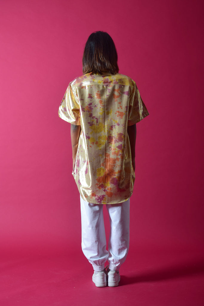 SHIMMA BOYFRIEND SHIRT [GOLD]