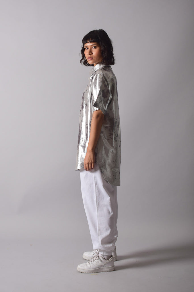 SHIMMA BOYFRIEND SHIRT [MOON]