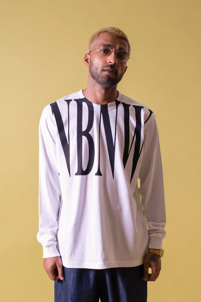 NBNW WHITE LONG SLEEVE TEE