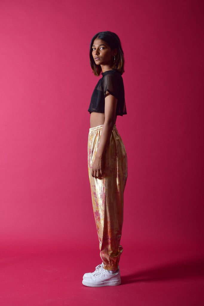 SHIMMA TRACKPANTS [GOLD]