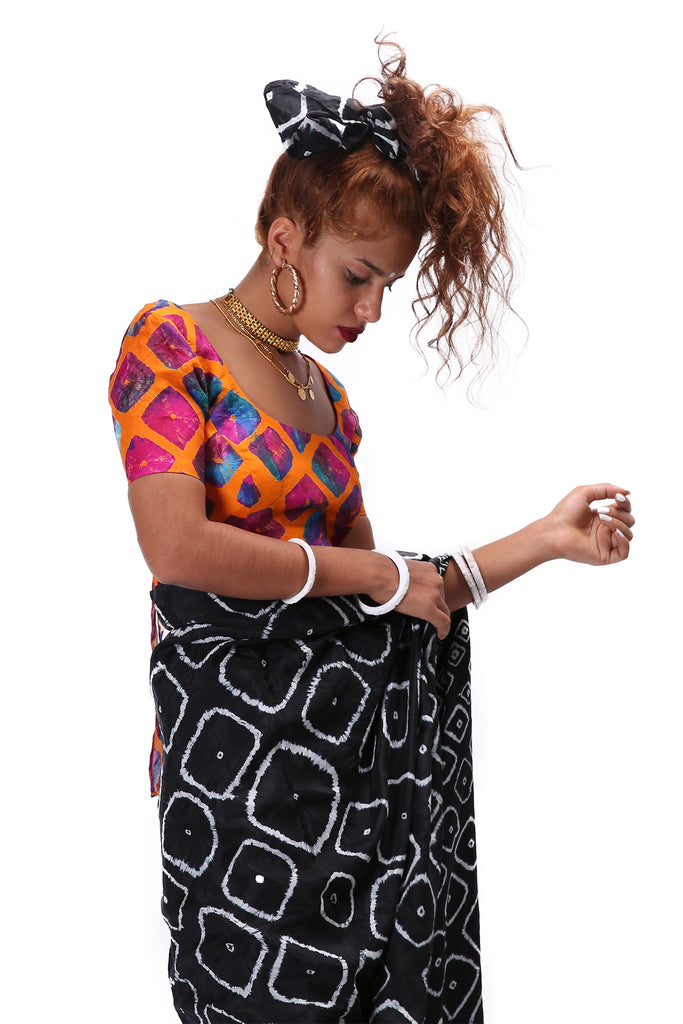 Chhota Mota Saree - Black