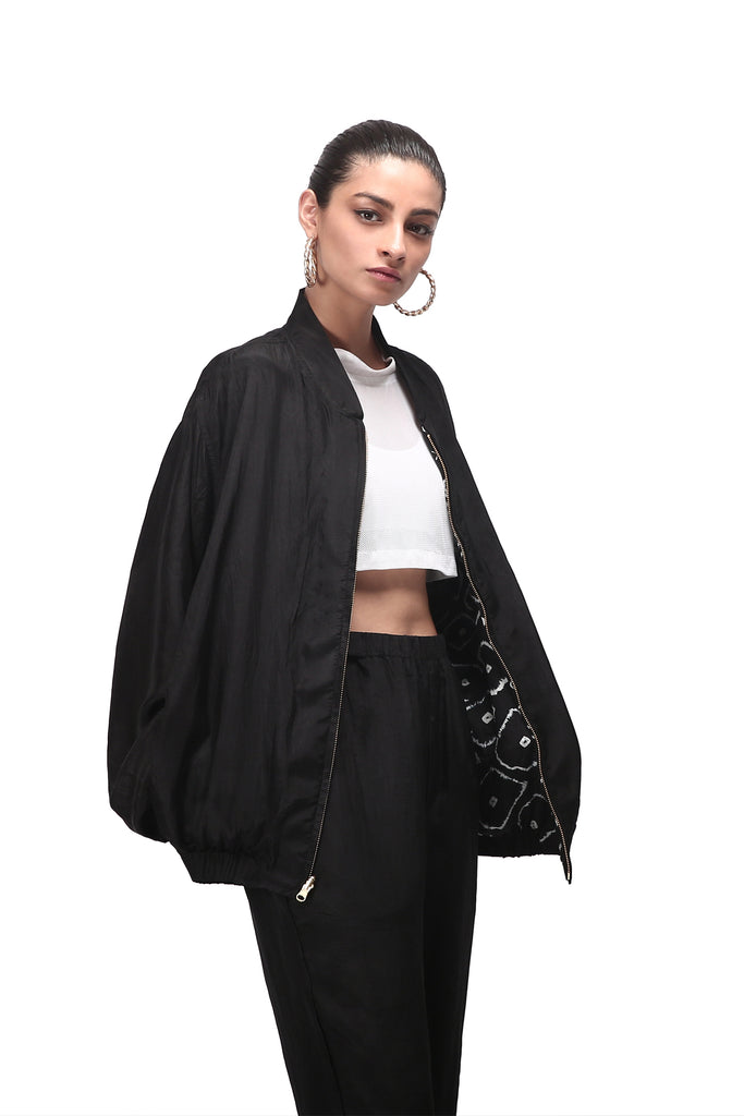 Chhota Mota Bom Bomber (Reversible) Set - Black