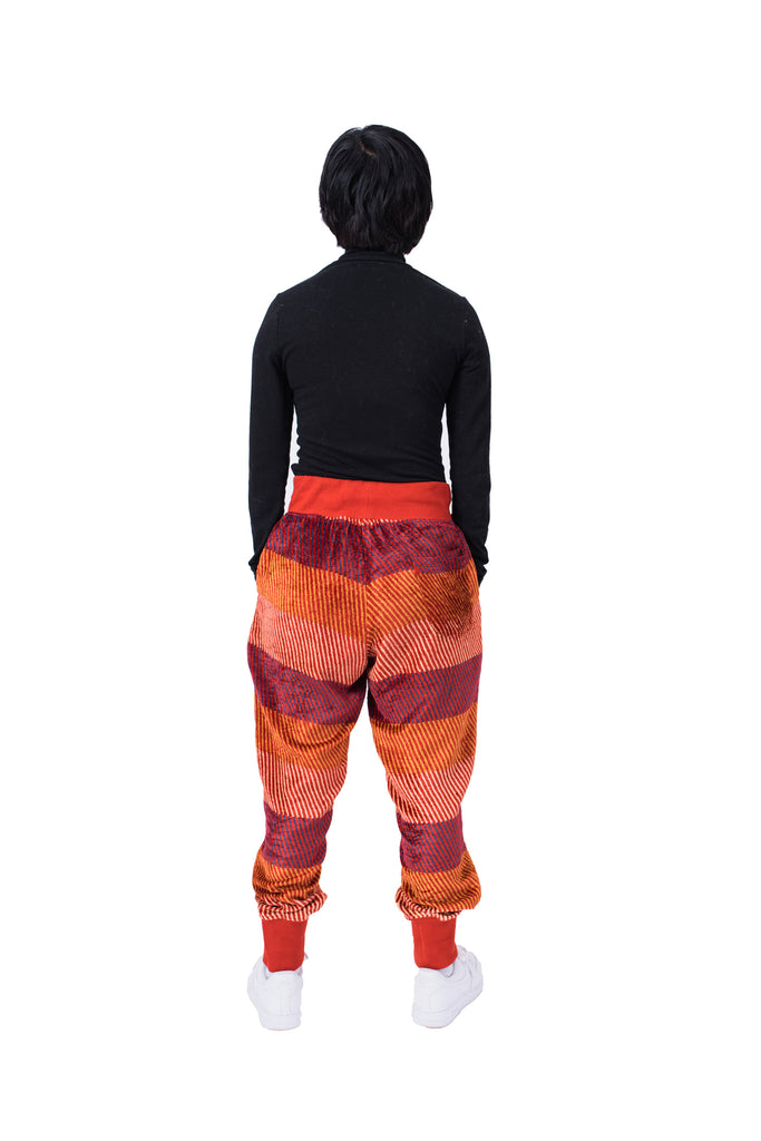 VELVET VIXEN SWEATPANTS - RUST