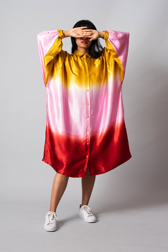 BANANA SPLIT SUNDAE SQUARE SHIRT DRESS