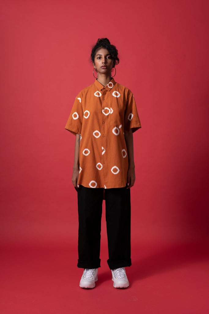 RING BOYFRIEND SHIRT - TERRACOTTA