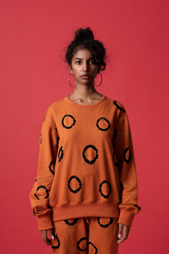 RING SWEATSHIRT - TERRACOTTA