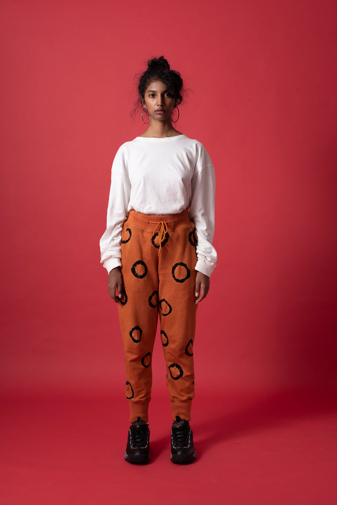 RING SWEATPANTS - TERRACOTTA