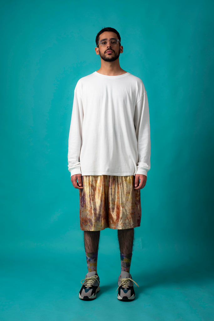 GOLD SHIMMA BASEBALL SHORTS