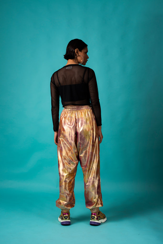 GOLD SHIMMA TRACKPANTS