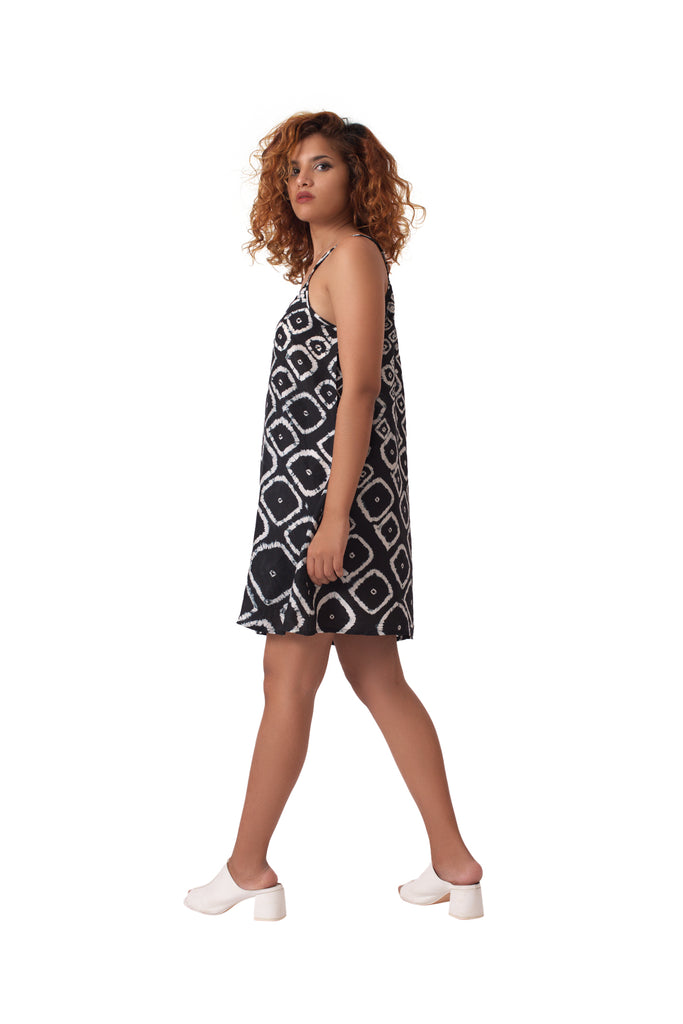Chhota Mota Short Slip Dress - Black