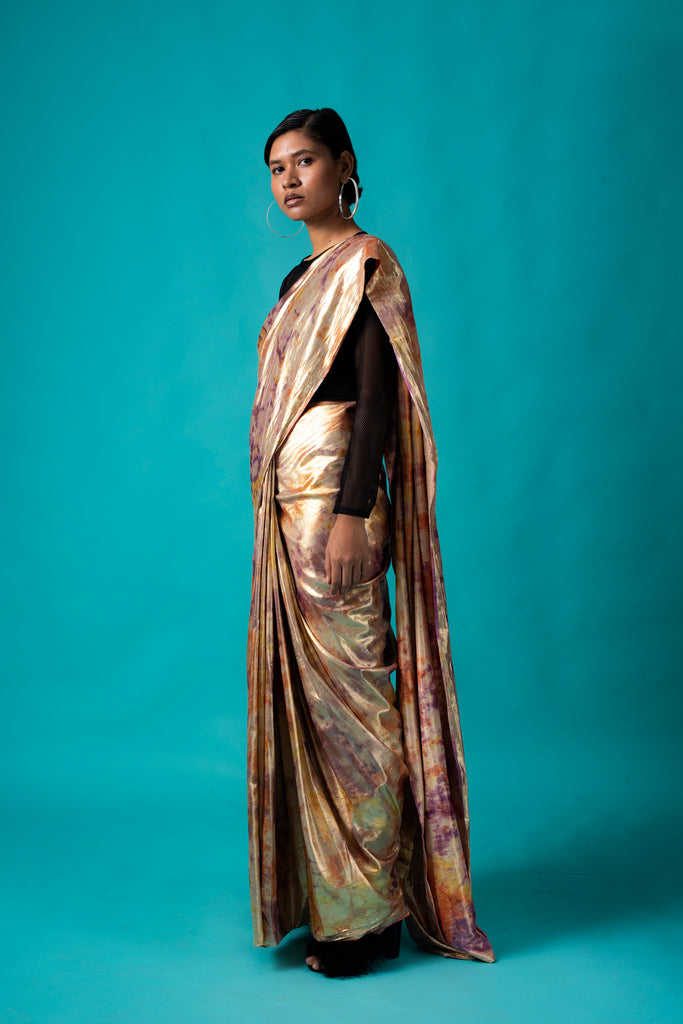 GOLD SHIMMA SAREE