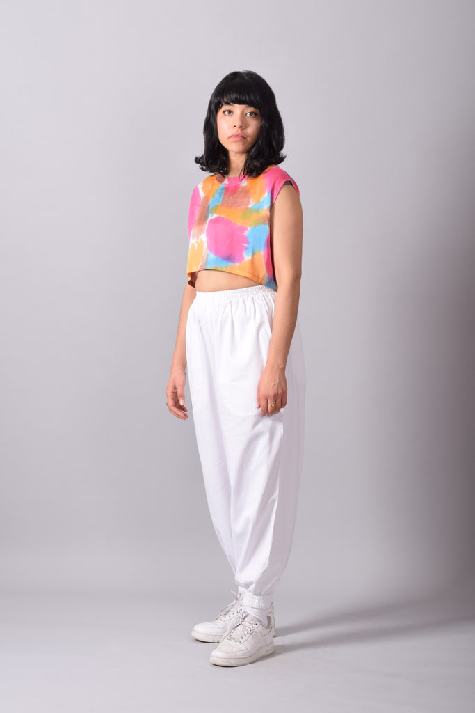 PRETTY PRETTY PAINTED CROP BLOUSE