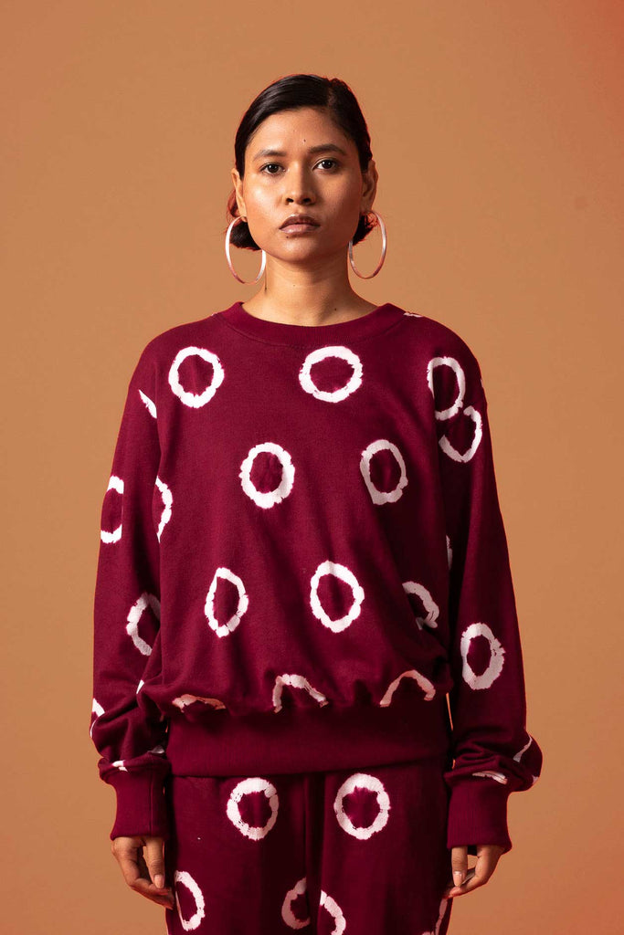 RING SWEATSHIRT - WINE